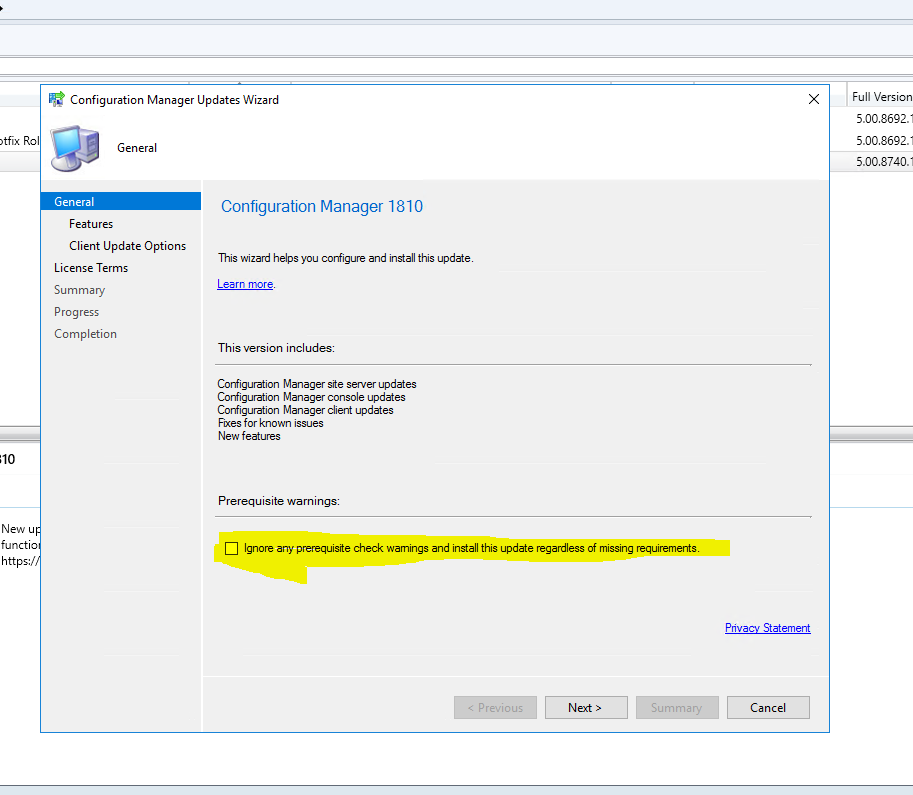 SCCM 1802/1806 Upgrade to 1810   Zee's IT Tips and Tricks